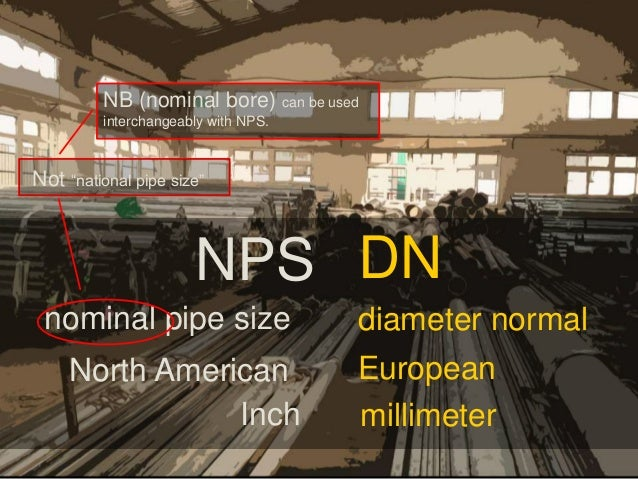 NB (nominal bore) can be used interchangeably with NPS. Not u201cnational pipe ... & YHMCO - Pipe Size brief explanation
