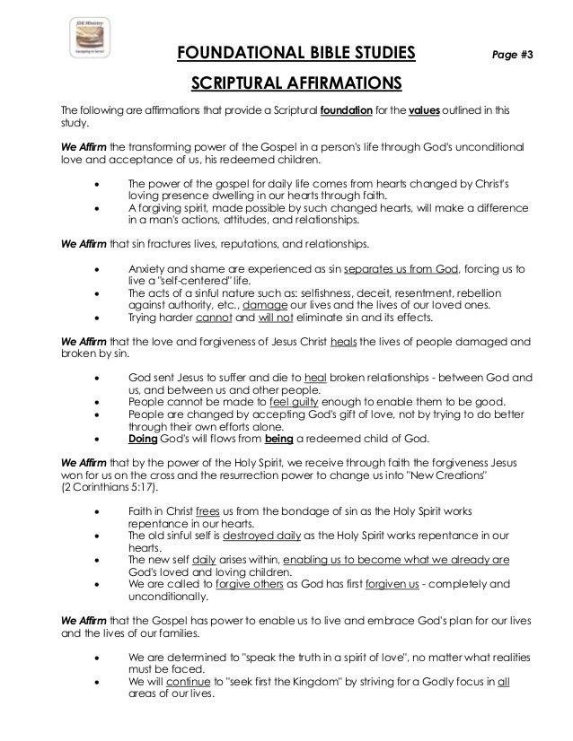 Bible Handout Pdf