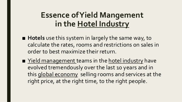 YIELD MANAGEMENT IN HOTELS EBOOK DOWNLOAD