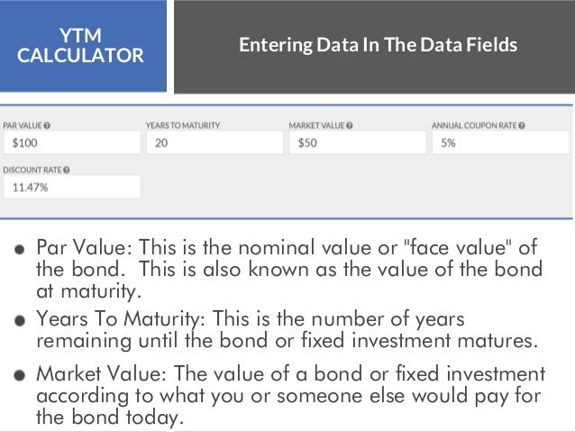 Maturity Years Calculator To