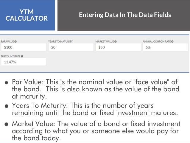 Years To Maturity Calculator