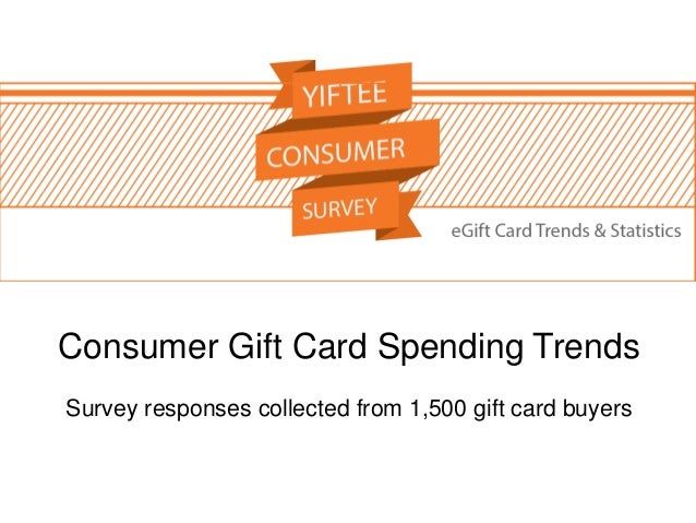 Consumer Gift Card Spending Trends Survey responses collected from 1,500 gift card buyers