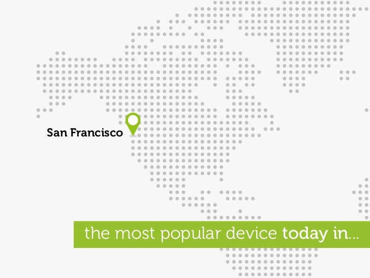 San Francisco           the most popular device today in...