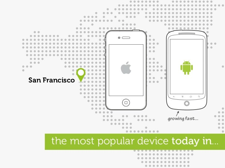 San Francisco                                   growing fast...          the most popular device today in...