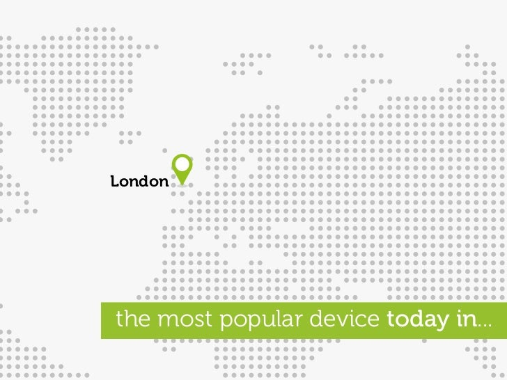 London     the most popular device today in...