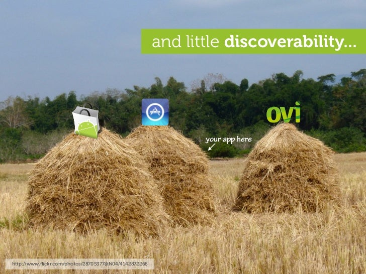 and little discoverability...                                                                  your app here              ...