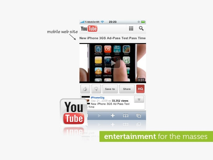 mobile web site                       entertainment for the masses