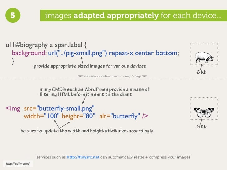 """5                     images adapted appropriately for each device...   ul li#biography a span.label {   background: url(""""..."""