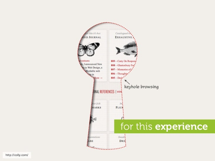 keyhole browsing                         for this experience  http://colly.com/