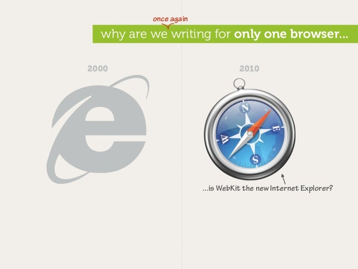 once again    why are we writing for only one browser...  2000                              2010                          ...