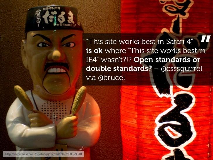 """This site works best in Safari 4""                                                                                        ..."