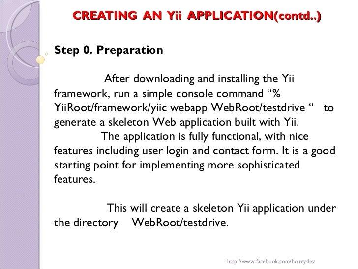 Yii php framework_honey