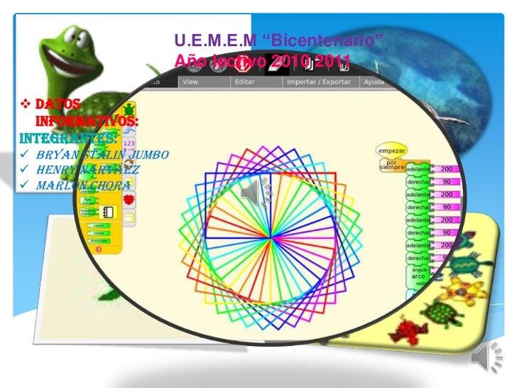 "U.E.M.E.M ""Bicentenario""<br />Año lectivo 2010 2011<br /><ul><li>Datos informativos:</li></ul>Integrantes:<br /><ul><li>Br..."