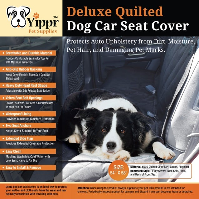 Yippr pet supplies  dog car seat protector covers
