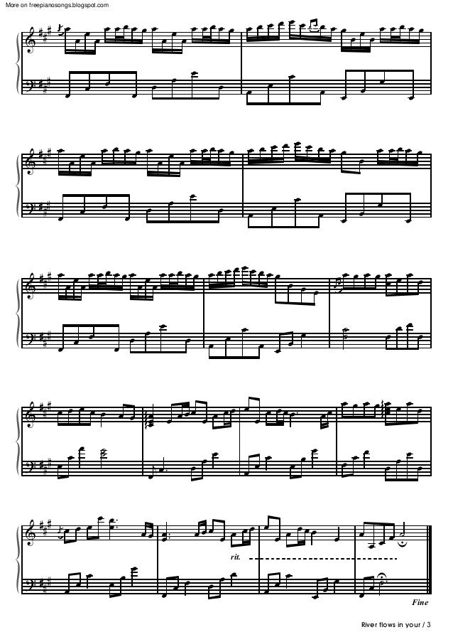 All Music Chords sheet music for river flows in you : Yiruma river-flows-in-you