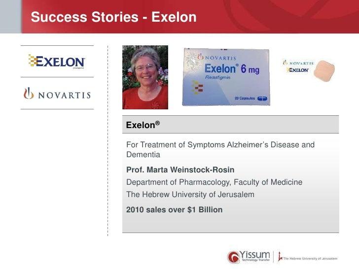 Success Stories - Exelon             Exelon®             For Treatment of Symptoms Alzheimer's Disease and             Dem...