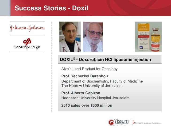 Success Stories - Doxil              DOXIL® - Doxorubicin HCI liposome injection              Alza's Lead Product for Onco...