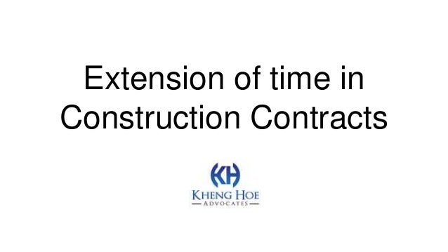 Extension of time in Construction Contracts