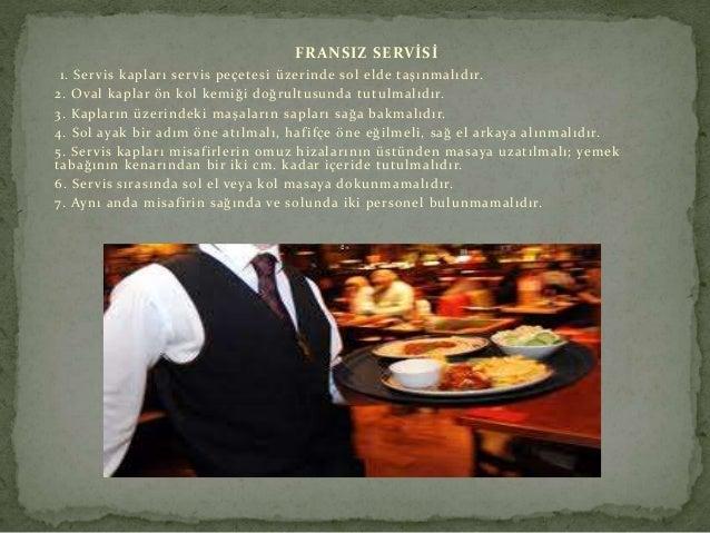 Yiyecek İçecek Servisinde Dikkat Edilecek Hususlar Slide 3