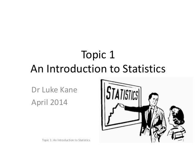 Statistics for the Health Scientist: Basic Statistics I