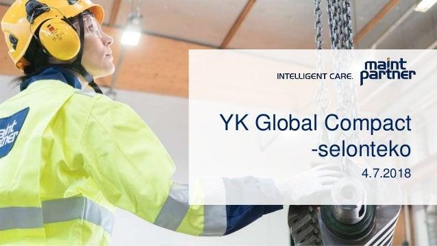 YK Global Compact -selonteko 4.7.2018