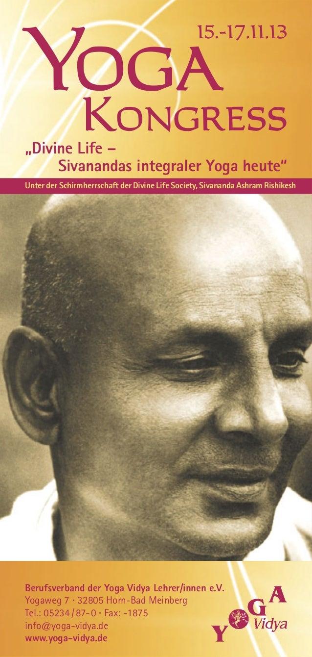 Programm Berufsverband der Yoga Vidya Lehrer/innen e.V. Yogaweg 7 · 32805 Horn-Bad Meinberg Tel.: 05234/87-0 · Fax: -1875 ...