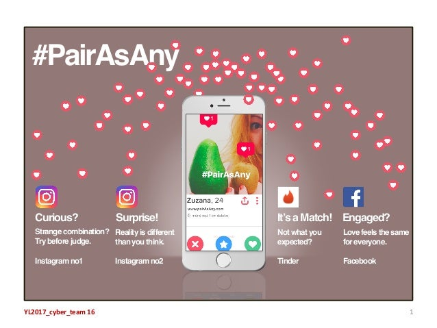 1YL2017_cyber_team 16 #PairAsAny Curious? Surprise! It's a Match! Engaged? Strange combination? Try before judge. Instagra...