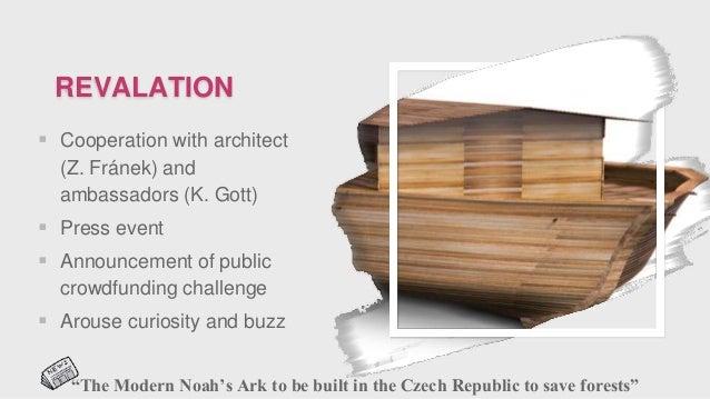 REVALATION  Cooperation with architect (Z. Fránek) and ambassadors (K. Gott)  Press event  Announcement of public crowd...