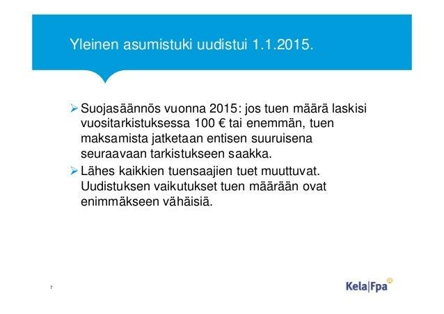 Yleinen asumistuki uudistui 1.1.2015