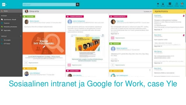 Sosiaalinen intranet ja Google for Work, case Yle