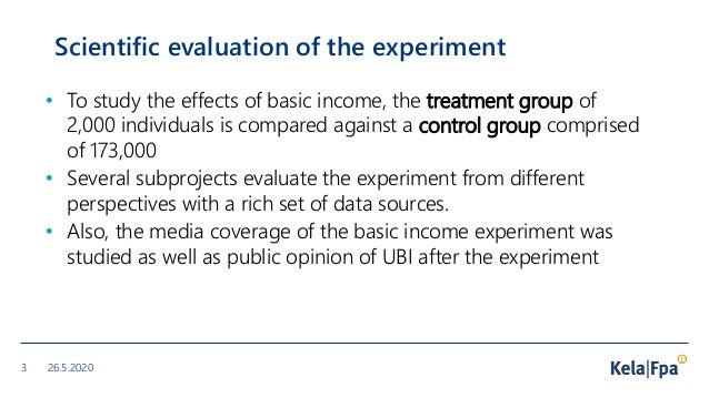 Results from the evaluation study of the Finnish Basic Income Experiment 2017-2018 Slide 3