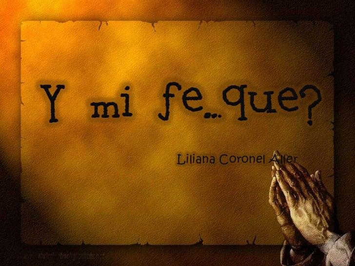 Liliana Coronel Aller<br />