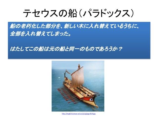パラドックス テセウス の 船