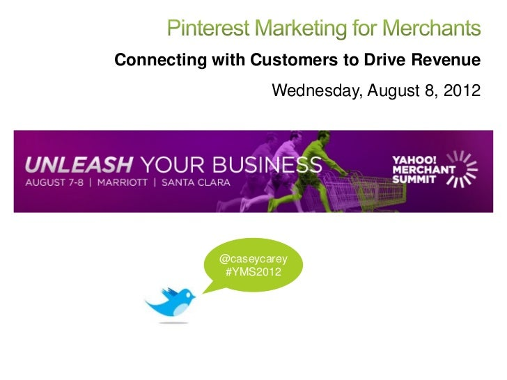 Connecting with Customers to Drive Revenue                    Wednesday, August 8, 2012            @caseycarey            ...