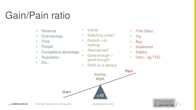 Proprietary and Confidential Gain/Pain ratio • Revenue • Cost savings • Time • People • Competitive advantage • Reputation...