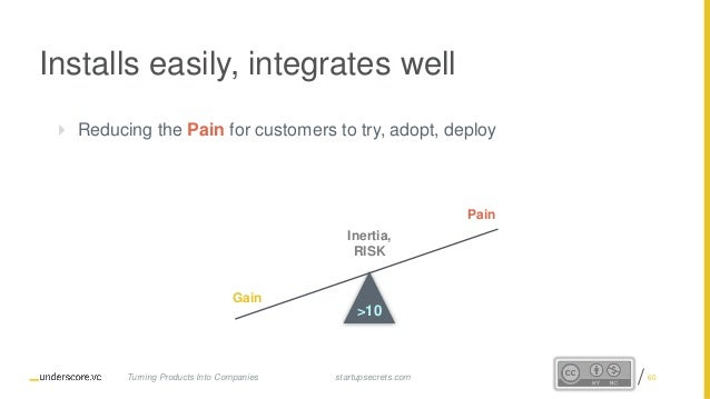 Proprietary and Confidential Installs easily, integrates well  Reducing the Pain for customers to try, adopt, deploy Iner...