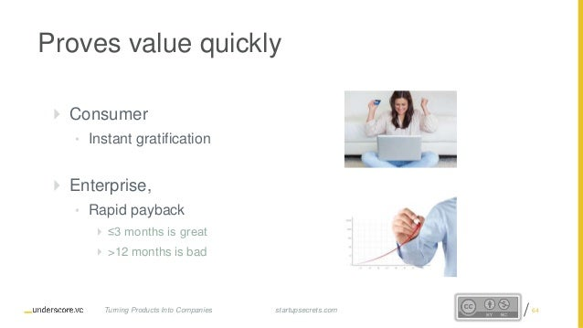 Proprietary and Confidential Proves value quickly  Consumer • Instant gratification  Enterprise, • Rapid payback  ≤3 mo...