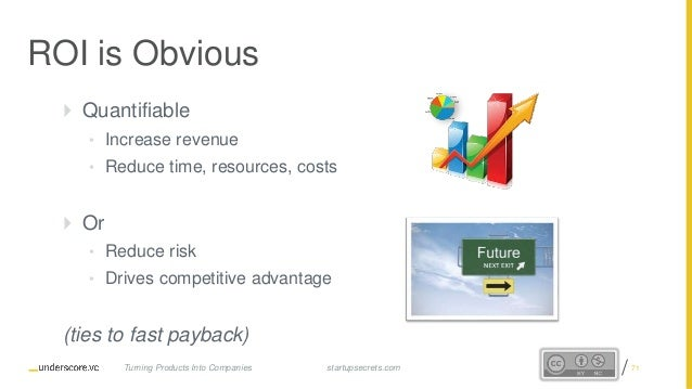 Proprietary and Confidential ROI is Obvious  Quantifiable • Increase revenue • Reduce time, resources, costs  Or • Reduc...