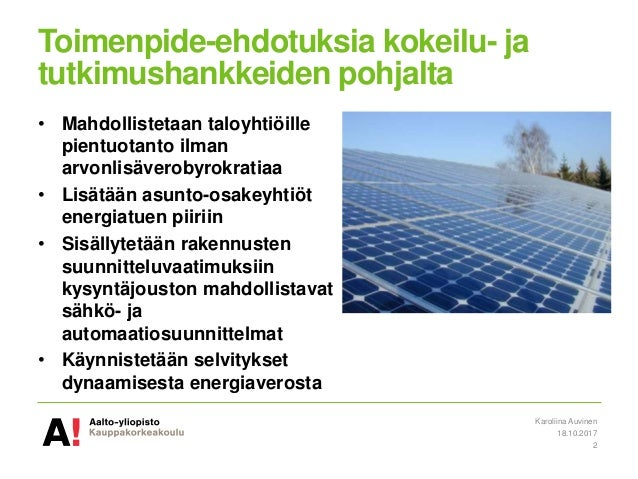 Esitys: Kuluttajat energiamarkkinoiden kehittämisessä keskiöön Slide 2