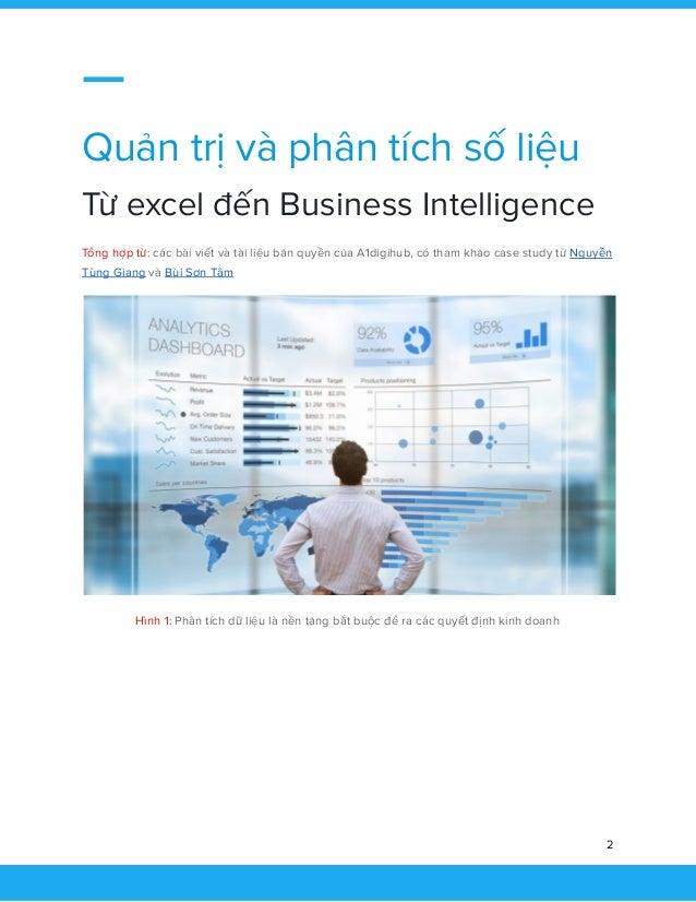 Quản trị và phân tích số liệu Từ excel đến Business Intelligence Slide 3