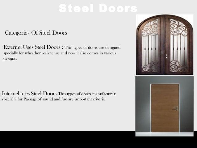 Steel Doors; 3.  sc 1 st  SlideShare & Types and Uses of Steel Doors pezcame.com