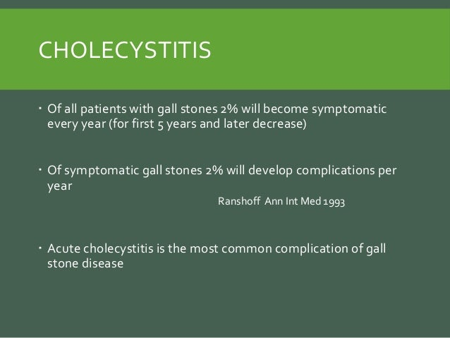 Complications Of Gall Stone Disease