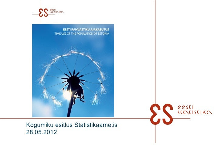 Kogumiku esitlus Statistikaametis28.05.2012