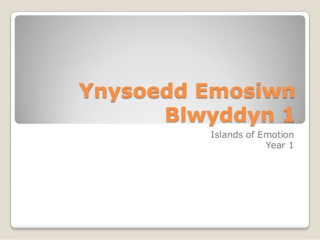 Ynysoedd Emosiwn Blwyddyn 1 Islands of Emotion Year 1