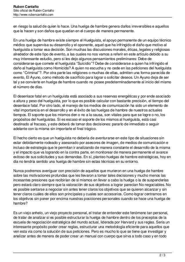 Ruben Cantafio Sitio oficial de Rubén Cantafio http://www.rubencantafio.com en riesgo la salud de quien lo hace. Una huelg...