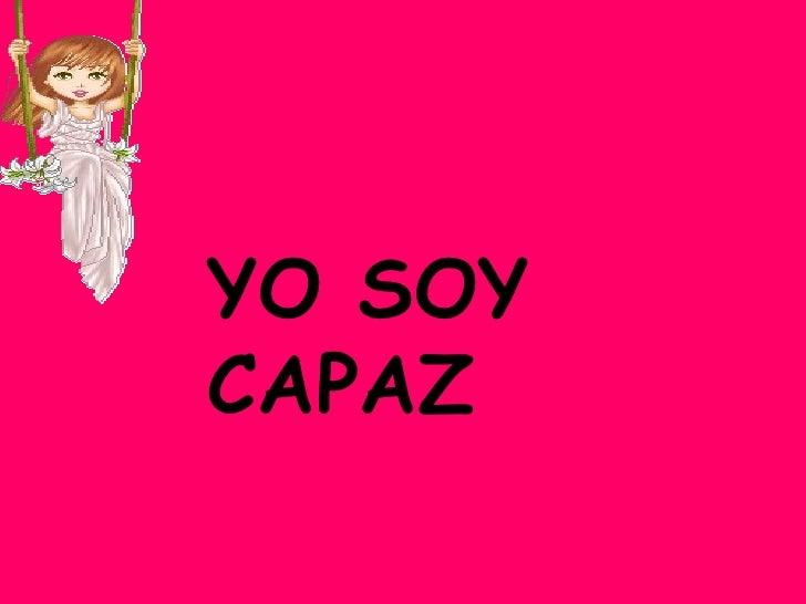 YO SOY CAPAZ