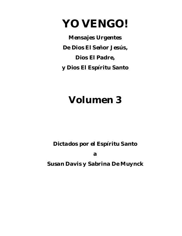 YO VENGO (vol.3) - Susan Davis