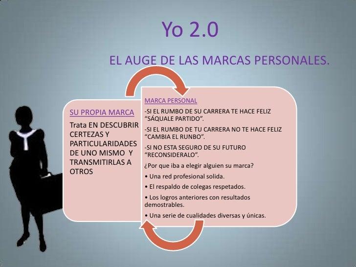Yo 2.0          EL AUGE DE LAS MARCAS PERSONALES.                     MARCA PERSONALSU PROPIA MARCA      -SI EL RUMBO DE S...