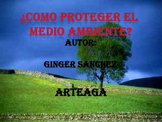 AUTOR: GINGER SANCHEZ ARTEAGA
