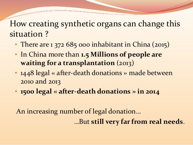 a moral solution to the organ Ezz eldin 3 mohamed ezz eldin professor vivian wilson english 1302 organ sales and ethics the organ shortage in the us  since the solution violates moral.